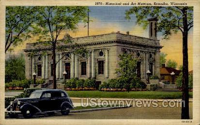 Historical & Art Museum - Kenosha, Wisconsin WI Postcard