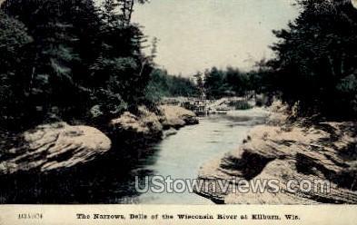 Dells of the Wisconsin River - Kilburn Postcard