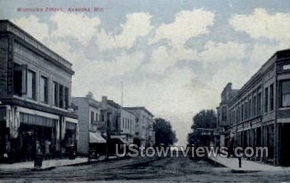 Wisonsin Street - Kenosha, Wisconsin WI Postcard
