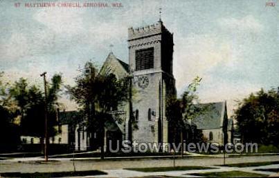 St. Mathew's Church   - Kenosha, Wisconsin WI Postcard