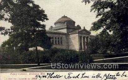 Public Library - Kenosha, Wisconsin WI Postcard