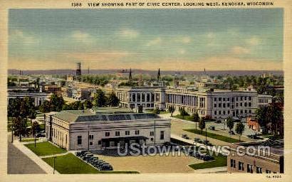 Civic Center - Kenosha, Wisconsin WI Postcard
