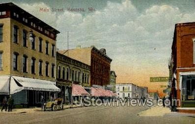 Main Street - Kenosha, Wisconsin WI Postcard