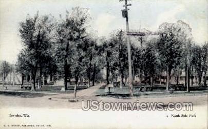 North Side Park - Kenosha, Wisconsin WI Postcard