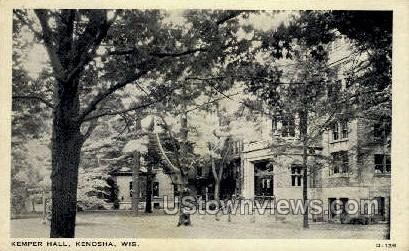 Kemper Hall - Kenosha, Wisconsin WI Postcard