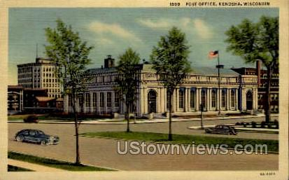Post Office - Kenosha, Wisconsin WI Postcard