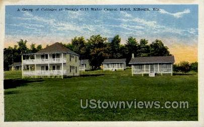 Berry's Cold Water Canyon Hotel - Kilbourn, Wisconsin WI Postcard