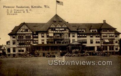Pennoyer Sanitarium - Kenosha, Wisconsin WI Postcard