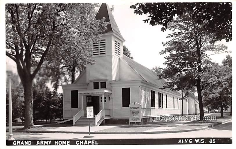 Grand Army Home Chapel - King, Wisconsin WI Postcard