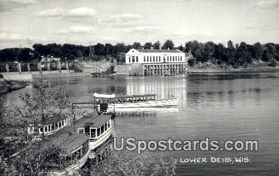 Lower Dells, Wisconsin     ;     Lower Dells, WI Postcard
