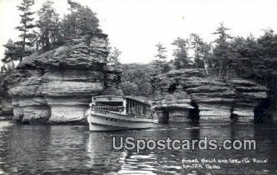 Sugar Bowl, Grotto Rock - Lower Dells, Wisconsin WI Postcard