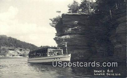 Hawk's Bill - Lower Dells, Wisconsin WI Postcard