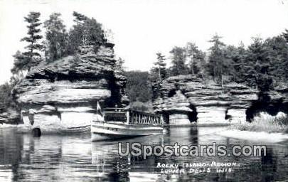 Rocky Island Region - Lower Dells, Wisconsin WI Postcard