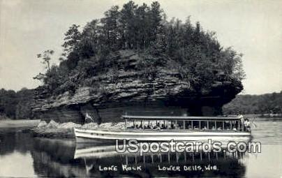 Lone Rock - Lower Dells, Wisconsin WI Postcard