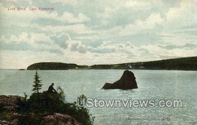 Lion Rock, Lake Superior - Wisconsin WI Postcard