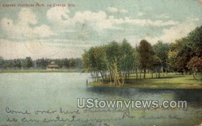 Lagoon Pettibone Park - La Crosse, Wisconsin WI Postcard