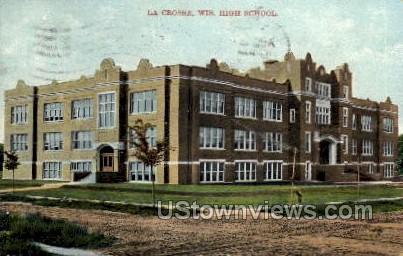 High School - La Crosse, Wisconsin WI Postcard