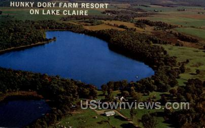 Hunky Dory Farm Resort - Lake Claire, Wisconsin WI Postcard