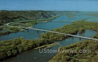 Interstate Bridge - La Crosse, Wisconsin WI Postcard