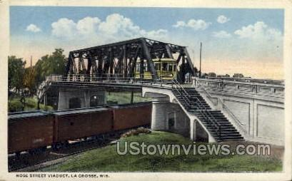 Rose Street Viaduct - La Crosse, Wisconsin WI Postcard