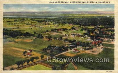 Grandads Bluff - La Crosse, Wisconsin WI Postcard