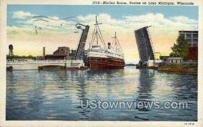 Racine on Lake Michigan - Wisconsin WI Postcard