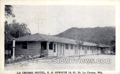 La Crosse Motel U.S. Hiways - Wisconsin WI Postcard