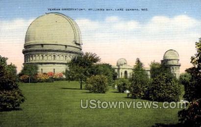 Yerkes Observatory, Williams Bay - Lake Geneva, Wisconsin WI Postcard