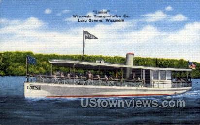 Wisconsin Transportation Co. - Lake Geneva Postcard