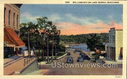 Williams Bay - Lake Geneva, Wisconsin WI Postcard