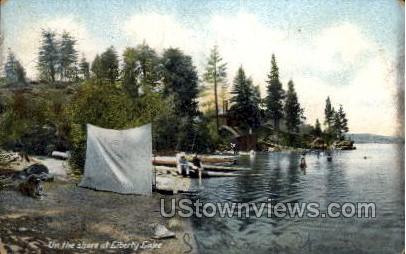 Liberty Lake - Wisconsin WI Postcard