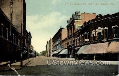 4th Street - La Crosse, Wisconsin WI Postcard
