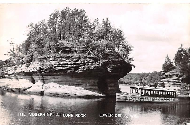The Josephine at Lone Rock - Lower Dells, Wisconsin WI Postcard