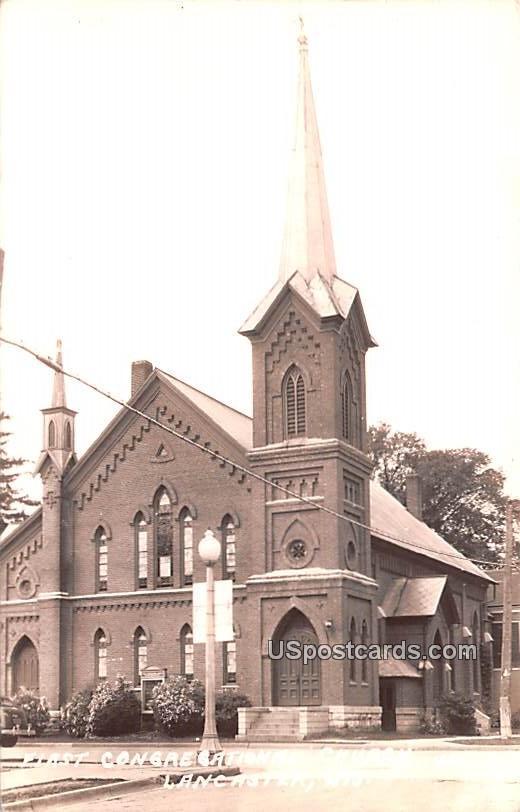 First Congregational Church - Lancaster, Wisconsin WI Postcard