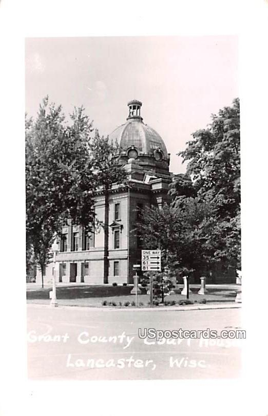 Grant County Court House - Lancaster, Wisconsin WI Postcard