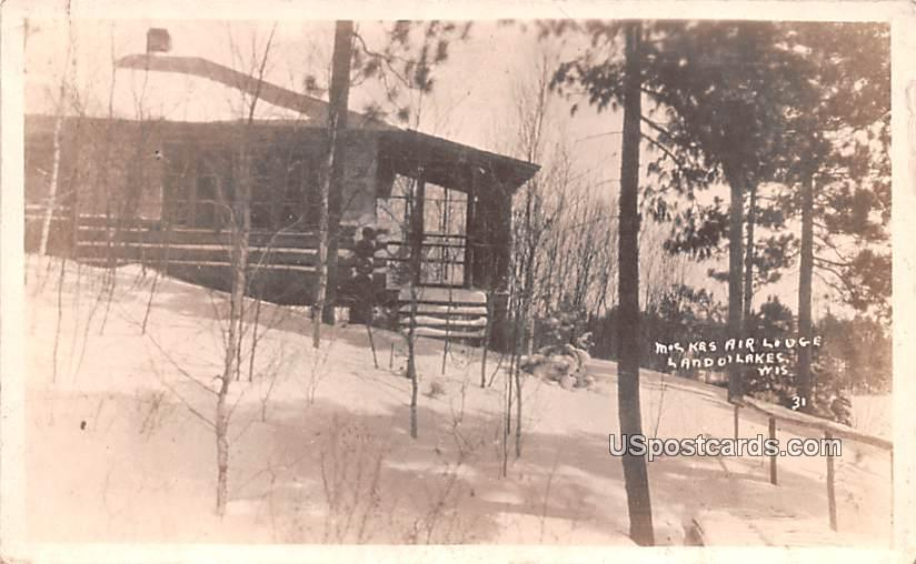 Mockes Air Lodge - Land O Lakes, Wisconsin WI Postcard