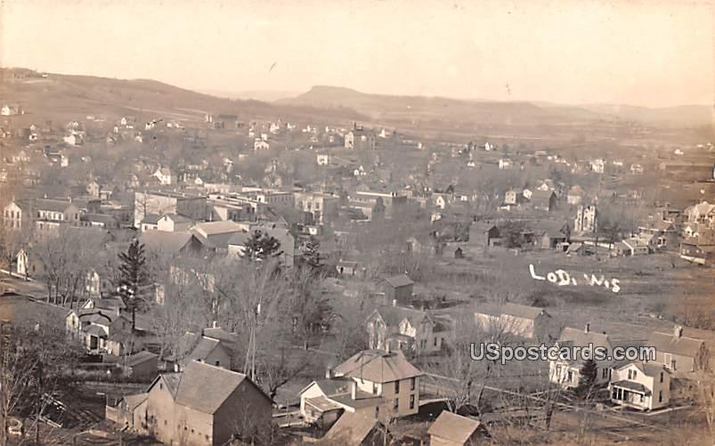 Birds Eye View - Lodi, Wisconsin WI Postcard