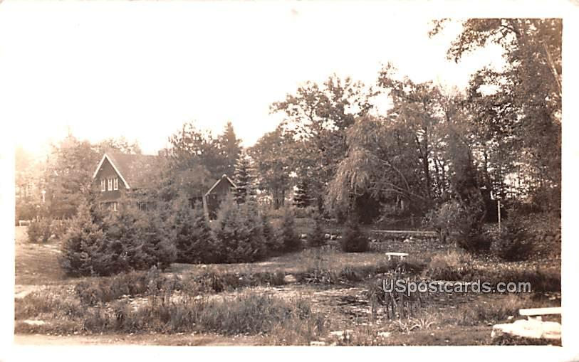 Lily Pond and Administration Building - Lake Tomahawk, Wisconsin WI Postcard