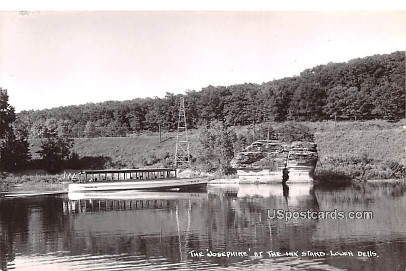 The Josephine - Lower Dells, Wisconsin WI Postcard
