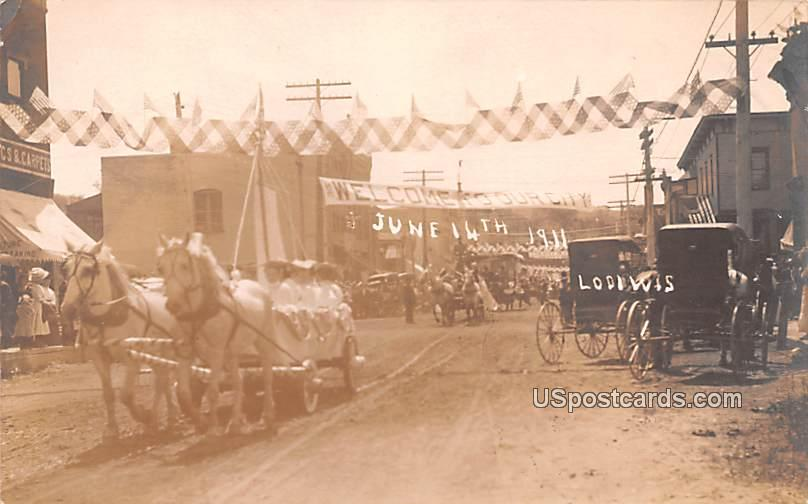 Welcome Parade June 14, 1911 - Lodi, Wisconsin WI Postcard