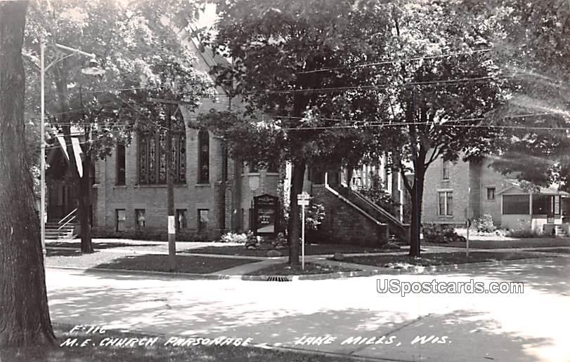 ME Church Parsonage - Lake Mills, Wisconsin WI Postcard