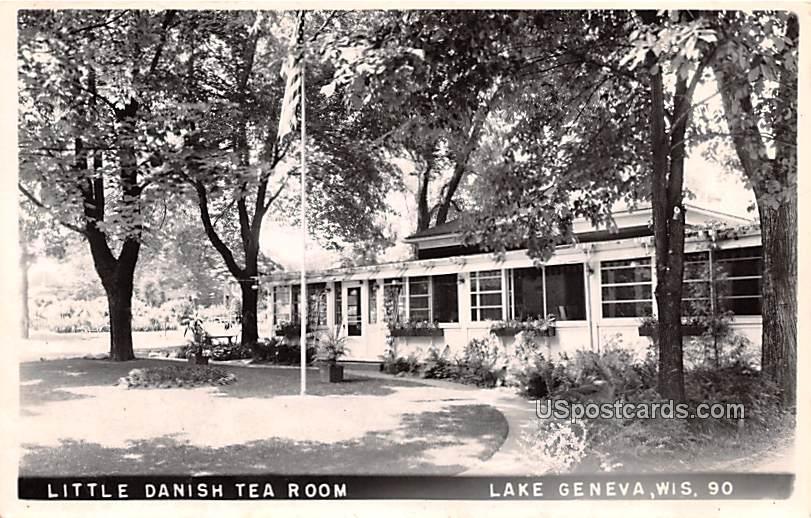 Little Danish Tea Room - Lake Geneva, Wisconsin WI Postcard