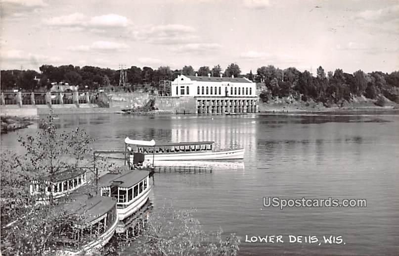 Water View - Lower Dells, Wisconsin WI Postcard