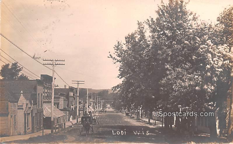 Street Scene - Lodi, Wisconsin WI Postcard