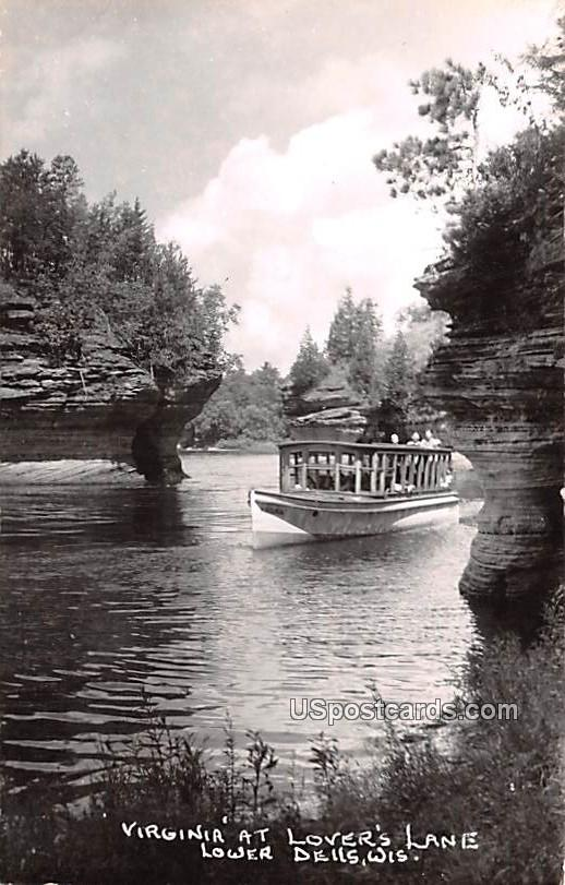 Virginia at Lover's Lane - Lower Dells, Wisconsin WI Postcard