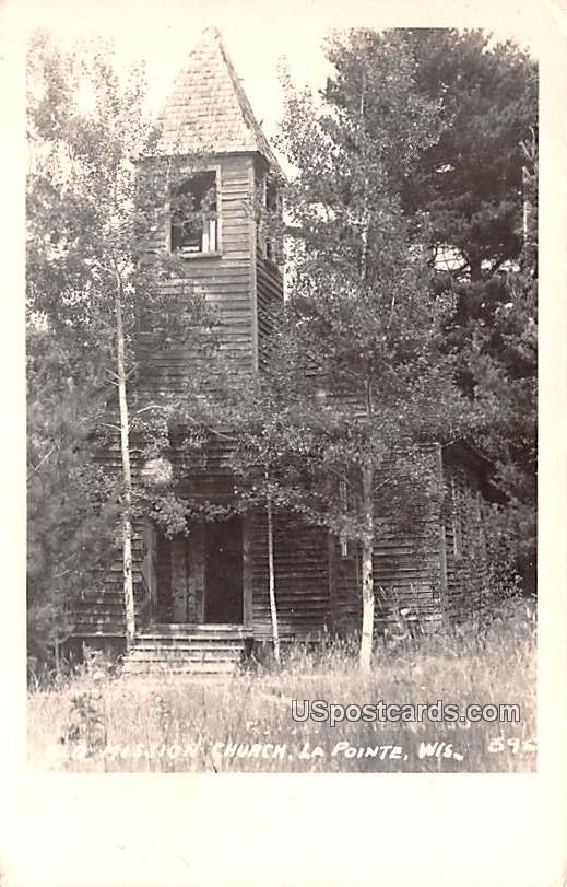 Old Mission Church - La Pointe, Wisconsin WI Postcard