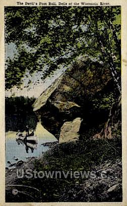 The Devil's Foot Ball - Misc, Wisconsin WI Postcard