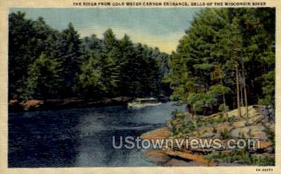 Cold Water Canyon - Misc, Wisconsin WI Postcard