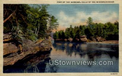 Foot Of The Narrows - Misc, Wisconsin WI Postcard