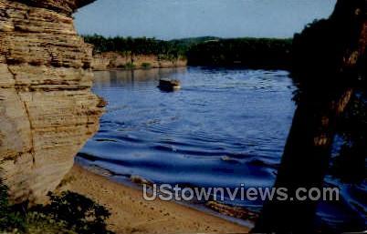 Lower Dells - Misc, Wisconsin WI Postcard